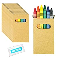 Partituki 30 Sets of Coloring Crayons. Each one with 6 Crayons in Assorted Colors. Ideal Gift for Piñatas or for Children