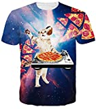 Idgreatim Mens 3D Bedruckte Sommer-beiläufige Kurze Hülsen-T-Shirts Kühle personifizierte Grafik-T-Stücke (M)