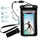 Clevermatter™ SafeCase pro; Universal Waterproof Mobile Pouch (Black)