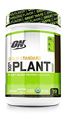 Optimum Nutrition Gold Standard 100% Plant Based Protein Powder, Chocolate, 19 Servings from Optimum Nutrition