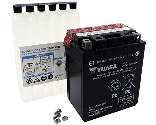 Batterie YUASA-ytx14ahl-bs wartungsfrei für SUZUKI LS650Savage, S40650ccm Baujahr 86-13
