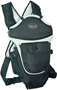 MaByLand Black and Grey Trek Snuggle Carrier (with blanket included)