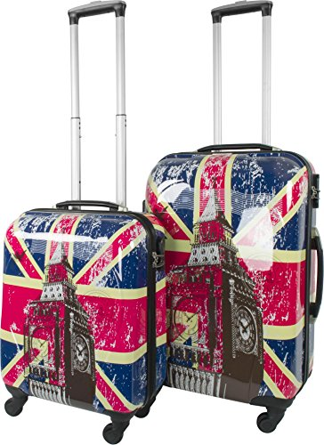 ABS Hartschalen Koffer mit Teleskopgriff und Zahlenschloss British Flag