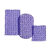 casa pura® Wanneneinlage Bubble | Bubble-Optik | lila-transparent | schadstoffgeprüft | als Badewanneneinlage und Duschmatte erhältlich | 3 Größen | rechteckig (69x36 cm)