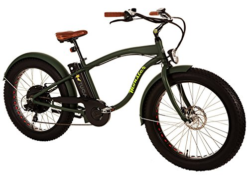 "MONSTER - Ist das Fat Elektrobike - Is The Electric Fat Bike - Rahmen: Alu Hydro TB 7005 - Räder: 26 "" - Shimano Alivio 6-Gang - Shimano Alivio 14-28 Zähne (GREEN FOREST)"