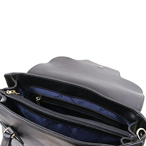 Tuscany Leather TL NeoClassic - Sac à main en cuir avec fermoir twist Rouge Sacs à main en cuir Miel