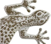 42cm Distressed Metal Lizard / Gecko Garden Wall Art Ornament by Gardens2you