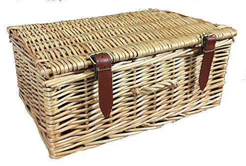 Aktentasche oder Picknickkorb Stil, Weidenkörbe mit Deckel. Aus ganze Willow Stielen. In 3Nützliche Größen, Rattan und Korbweide, natur, 15 l