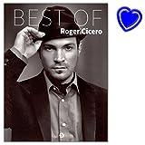 Roger Cicero Best Of - 15 Titel sind arrangiert mit Melodielinie, Text und Akkorden - Songbook mit bunter herzförmiger Notenklammer