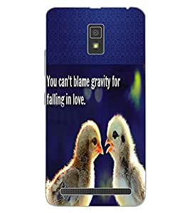 ColourCraft Image with Quote Design Back Case Cover for LENOVO A6600
