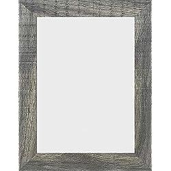 PF&A Cadre Photo en Bois De Gris Effet A5 / 14.8x21cm Shabby Chic - Verre