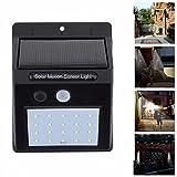 DXABLE 20 Solar LED Lámpara de Pared del Sensor de Movimiento Montado Impermeable al aire libre Camino del jardín del césped Luz Solar Seguridad (SM1)