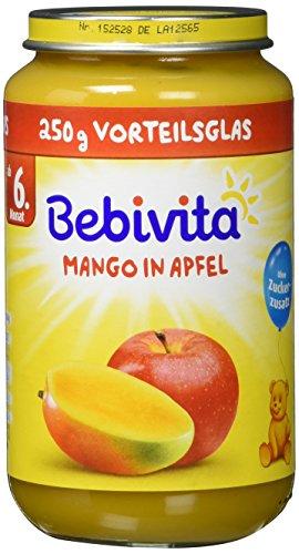 Bebivita Früchte- Mango in Apfel, 6er Pack (6 x 250 g)