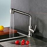 Homelody Armatur Wasserhahn Küche mit herausziehbarem/Ausziehbar Brause Küchenarmatur Spültischarmatur Wasserkran Mischbatterie Einhandhebelmischer