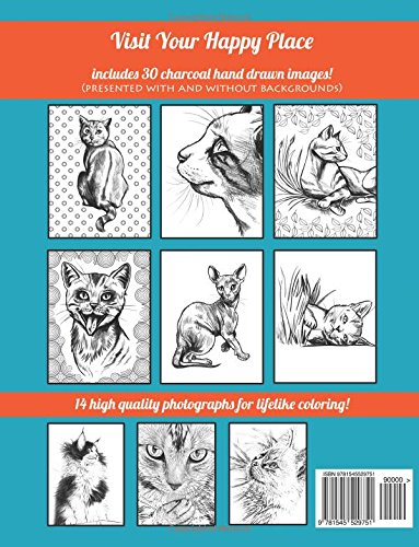 Kitty Cat Coloring Book: Adult Coloring to Visit Your Happy Place
