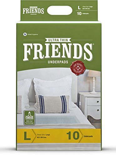 Friends Ultrathin Underpads (10 Underpads) Large