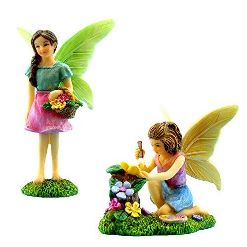(Pretmanns Fairy Garden Feen mit Miniatur-Feen-Figuren, ideal für Feen-Garten)