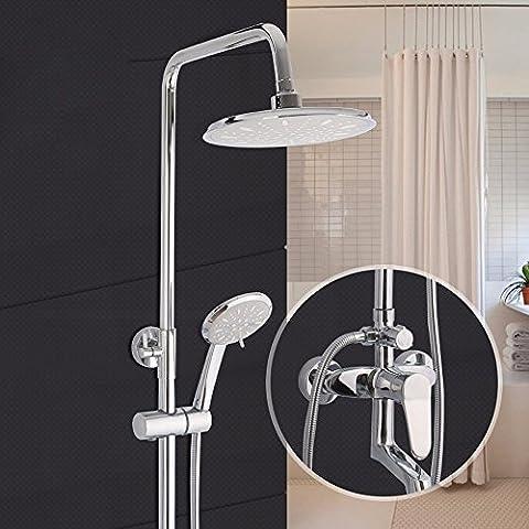 sdkky Dusche, Pfirsich, Badezimmer, Multifunktions-Brause-Set, alle Kupfer Hand Dusche