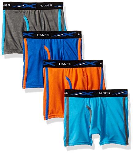 Hanes Big Boys' X-Temp Breathable Mesh Boxer Brief 4-Pack, Assorted, Small - Hanes Kinder T-shirt