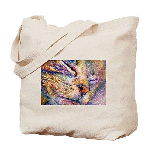 CafePress Sleeper Cat Tragetasche, canvas, khaki, M - Zurück Sleeper