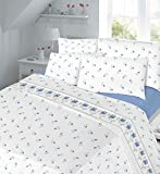 Homefurishing Thermal Floral Flannelette Sheet set, Include Fitted, Flat and Pillow Case