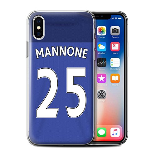 Offiziell Sunderland AFC Hülle / Gel TPU Case für Apple iPhone X/10 / Kone Muster / SAFC Trikot Home 15/16 Kollektion Mannone