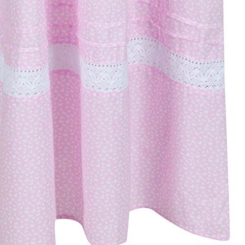 fürThe 1 for U 100% Baumwolle Nachthemd - Annabelle S - XXXXL Rosa Schmetterling