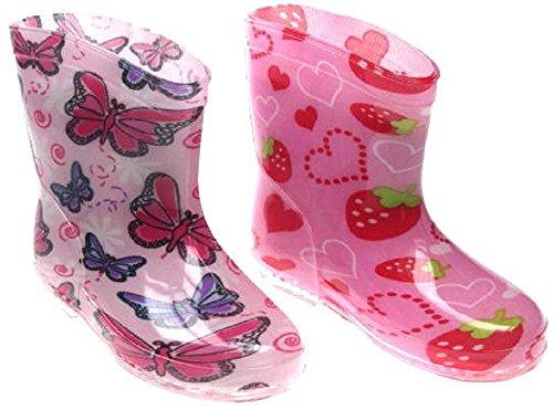 Soft Touch-ragazza stivali. Fragole e farfalle. Disponibile in Taglie 19-21(di età da 15-24mesi)