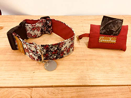 Collar ajustable para perro hecho a mano + chapita personalizable + dispensador...