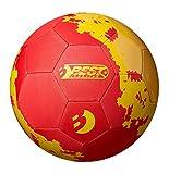Best Sporting Unsisex Neopren Fußball, rot/gelb, 5