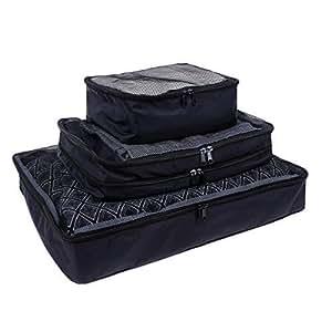 Ohuhu® [3-Pacco] Sacco Organizzatore Antistrappo per Viaggio, Sacchetto Multiuso Salvaspazio per Sottoletto, Armadio, Organizer Porta Lenzuola, Trapunta e Cuscino