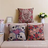 ZMMM casi di cuscino decorativo cotone lino Square Decorative Throw