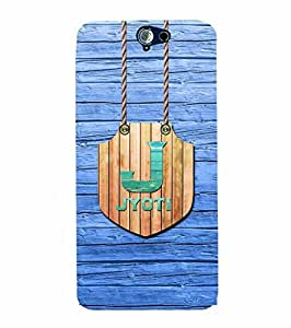 YuBingo Designer Printed Plastic Mobile Back Case Cover Panel for HTC One A9 ( Name Surname Jyoti (Wood Finish Printed on Plastic) )