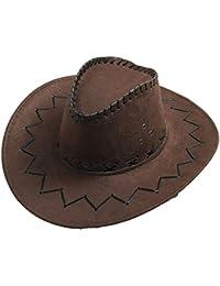 Amazon.it  Marrone - Cappelli da cowboy   Cappelli e cappellini ... 81a34759868b