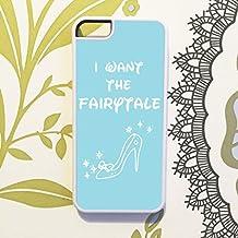 Oliva & Maybelle Fairytale Disney Zapatillas Azul Zapato de Cenicienta teléfono móvil para iPhone 5C, diseño en color blanco