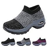 Funnie Chaussures de Course pour Femmes Baskets Compensées Chaussure de Running...