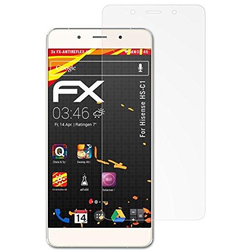 atFolix Schutzfolie kompatibel mit Hisense HS-C1 Bildschirmschutzfolie, HD-Entspiegelung FX Folie (3X)