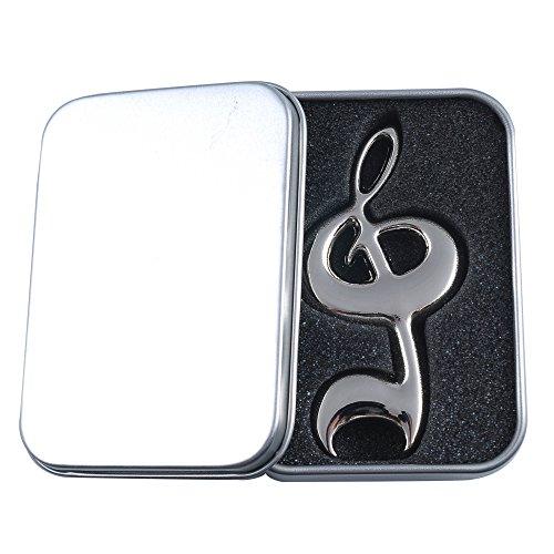 Punk Flaschenöffner Violinschlüssel, Musiknote Silver high note (Noten Geschenke)
