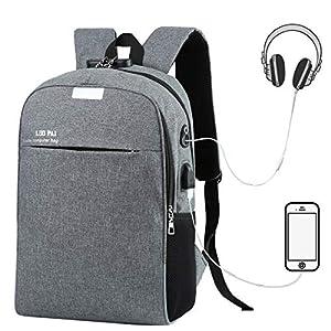 51zVgwrjKPL. SS300  - Eshow Mochila para Ordenador Portátil 15.6 Pulgadas con Puerto de Carga USB Negocio Trabajo para Hombres y Mujeres