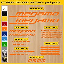 Kit Pegatinas Stickers Bicicleta MEGAMO -20 piezas- Bike Cycle Cod. 0831 (035 ARANCIONE)