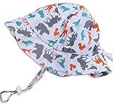 Chapeau contre le soleil pour bébé avec mentonnière, cordon d'ajustement de la taille de la tête, respirant , FPS de 50+(S: 0-9mois, Des bois )