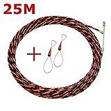 KKmoon Filetage de Fil Rouge et Noir Extracteur de Câble, Dispositif de Filetage Outils de Construction de Câbles à Fibres Optiques