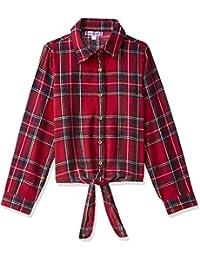 nauti nati Girls' Checkered Regular Fit Shirt