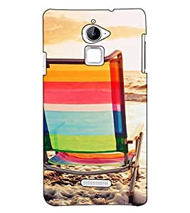 Fuson Designer Back Case Cover for Coolpad Note 3 Lite :: Coolpad Note 3 Lite Dual SIM (A chair on a beach theme)