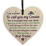 Best Cousin Girls - RED OCEAN Cousin Wooden Heart Plaque Birthday Cousin Review