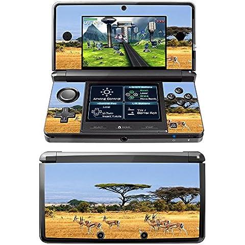 Safari Kenya, Skin Autoadesivo Sticker Adesivi Pelle Cover Decal Set con Disegno Strutturato con Nintendo 3DS
