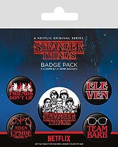 Pyramid- Pack Chapas Stranger Things Logo, (BP80656)