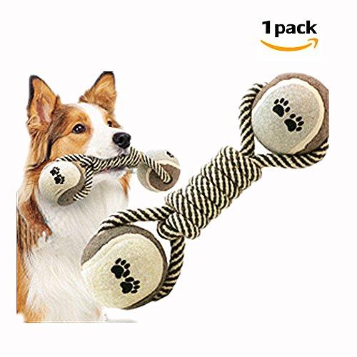 Morbuy Hund kauen Spielzeug, Geflochten Langlebig Pet Seil Welpen Spielzeug Baumwolle Zahnreinigung Seil Spielzeug Qualitativ Hochwertige Baumwolle Fasern Farbige Spielzeug 1PC (A)