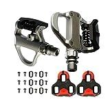 Pedali automatici di Alluminio SPD VP R73per bicicletta Colore Bianco Compatibile con Look Keo MTB Road + Set di tacchette incluso 3649