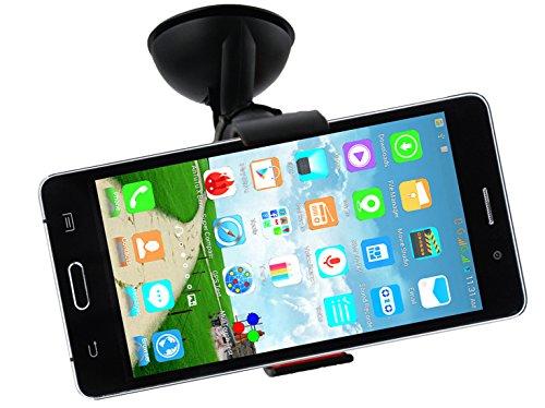 Emartbuy® Universal Handyhalterung Armaturenbrett/Windschutzscheibe Schwarz fürgeeignet XGODY 5.5 Zoll QHD D100 Touch